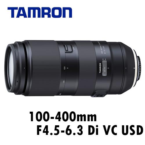 TAMRON A035 100-400mm F4.5-6.3 Di VC USD 全幅望遠鏡 FOR CANON 公司貨 3年保固