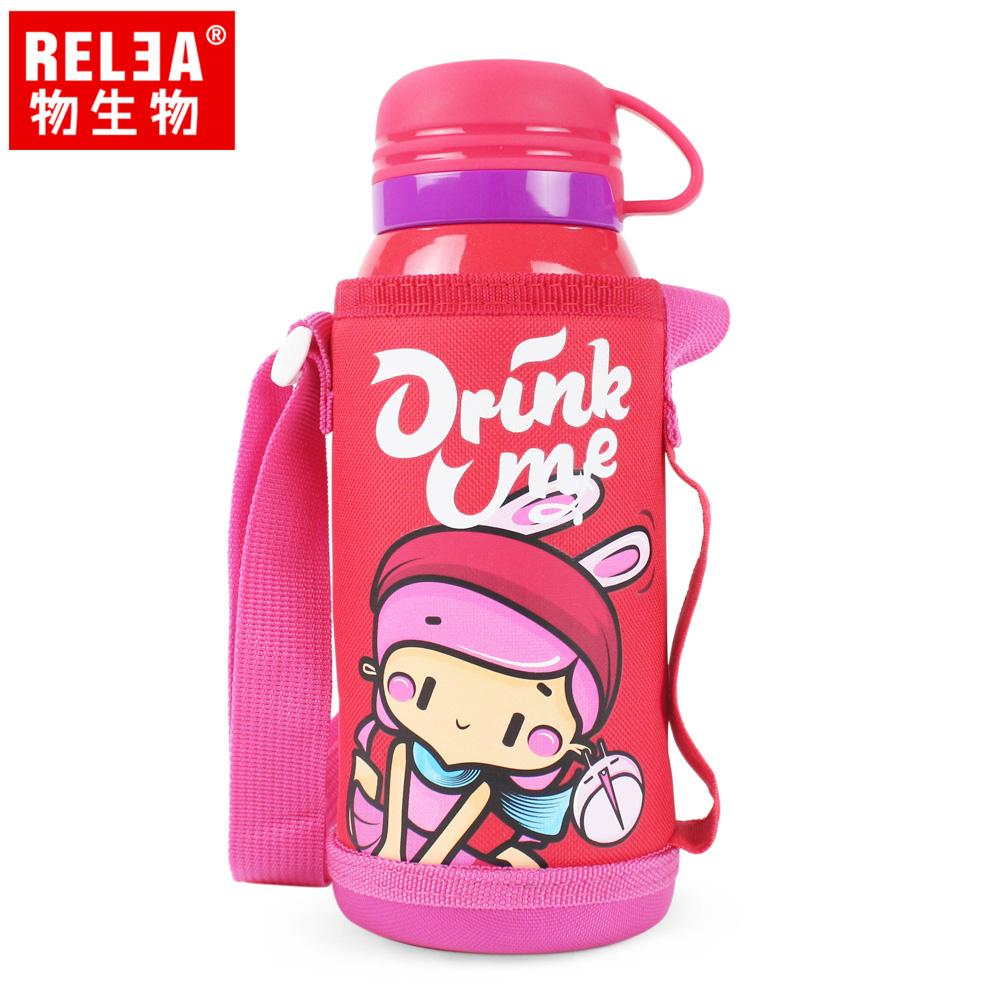 【香港RELEA物生物】520ml連萌兒童316不鏽鋼保溫杯(魅力紅)