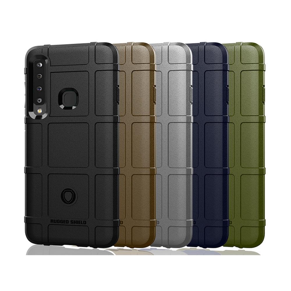 QinD SAMSUNG Galaxy A9(2018) 戰術護盾保護套(軍綠)