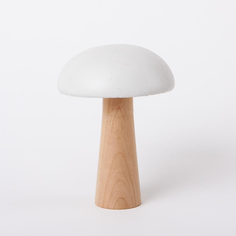 蘑菇森林擺飾-白(大)-生活工場