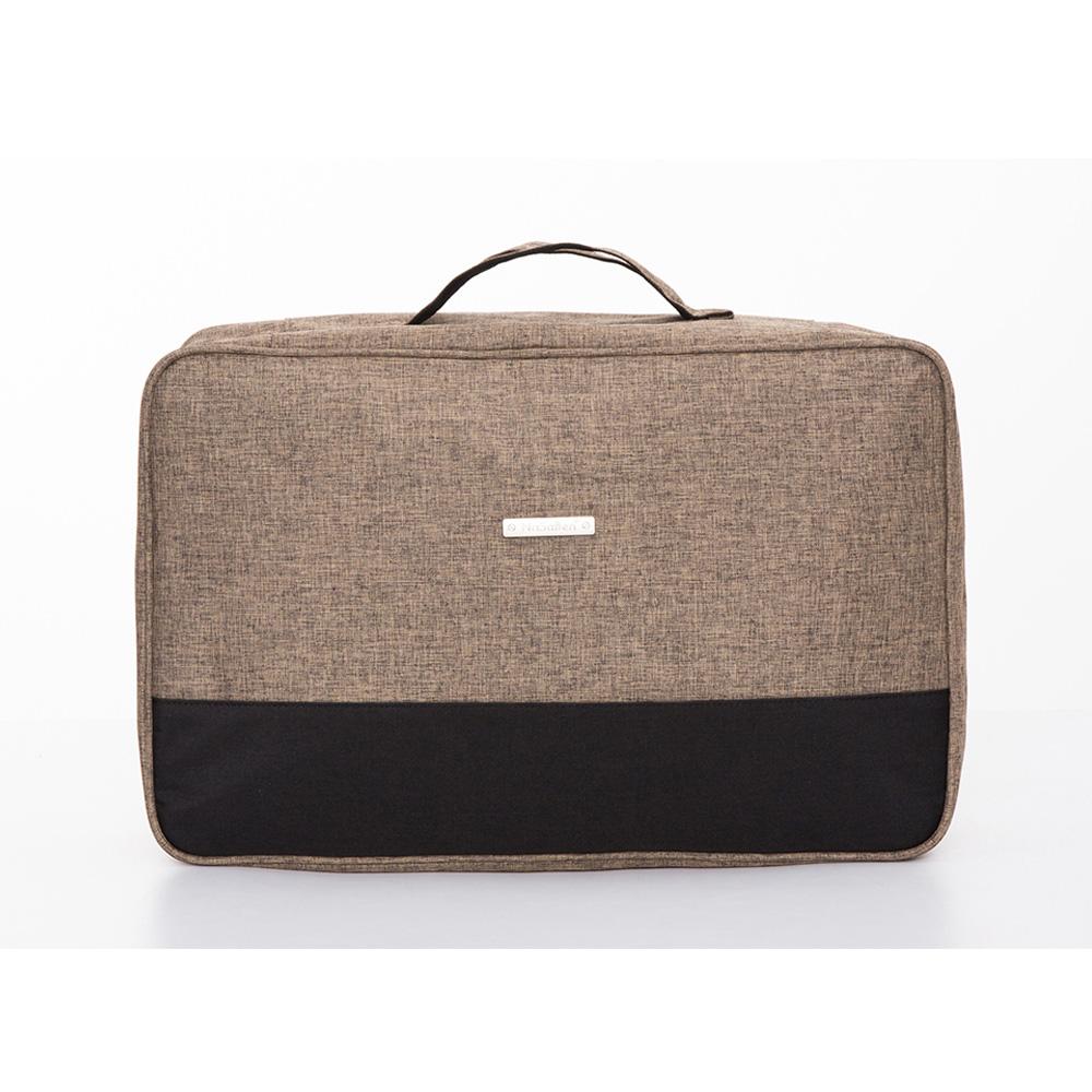 【德國品牌NaSaDen】衣物收納袋-衣物收納/乾淨髒污衣物清楚分開收納袋(咖啡棕)