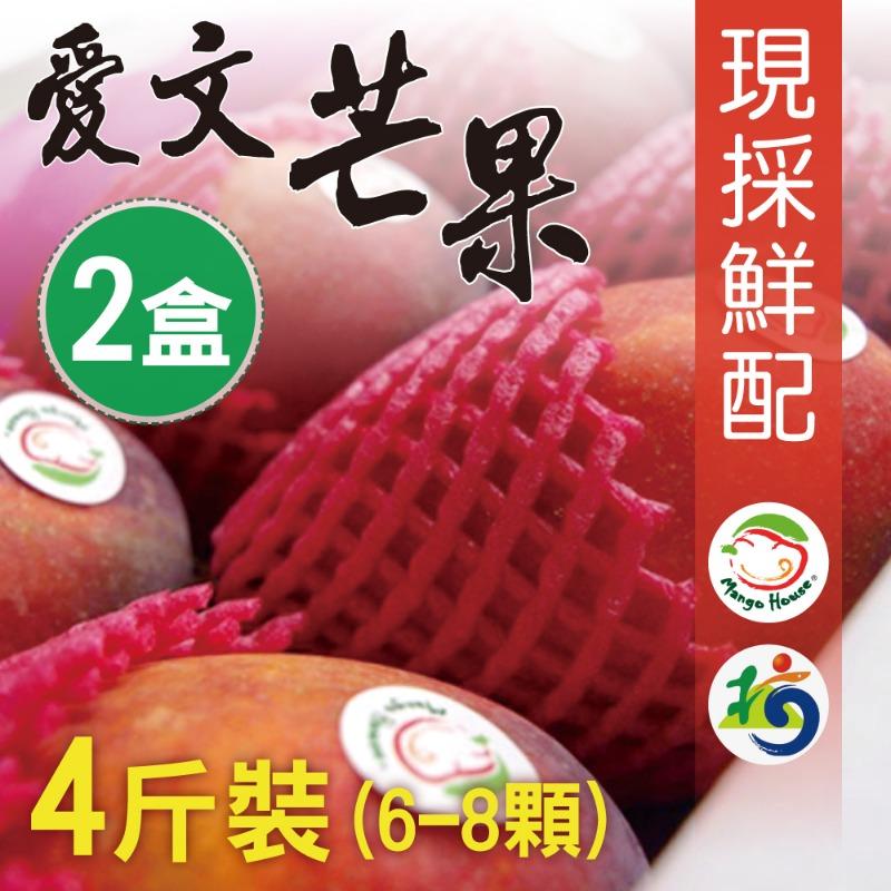 【MANGO HOUSE】枋山愛文芒果4斤/盒x2盒(6~8顆/盒) 輸日等級 擁有生產追溯碼