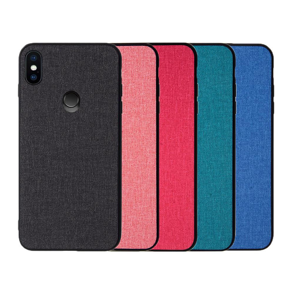 QinD MIUI 小米 8 布藝保護套(青藍色)