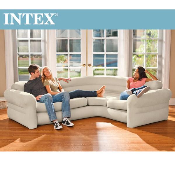 【INTEX】超大充氣L型沙發椅(68575)