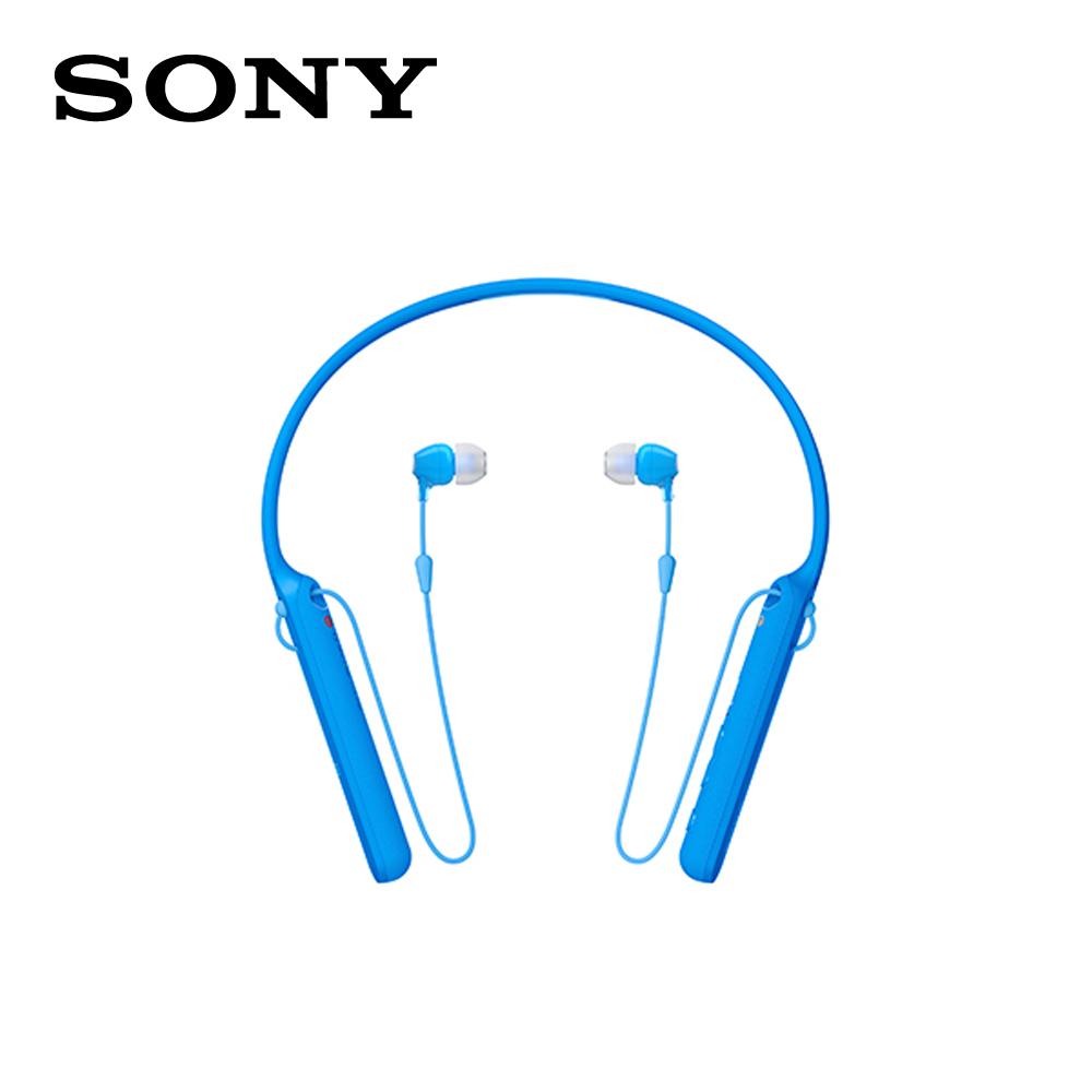 【SONY 索尼 】WI-C400 無線藍牙 頸掛入耳式 耳機 藍色