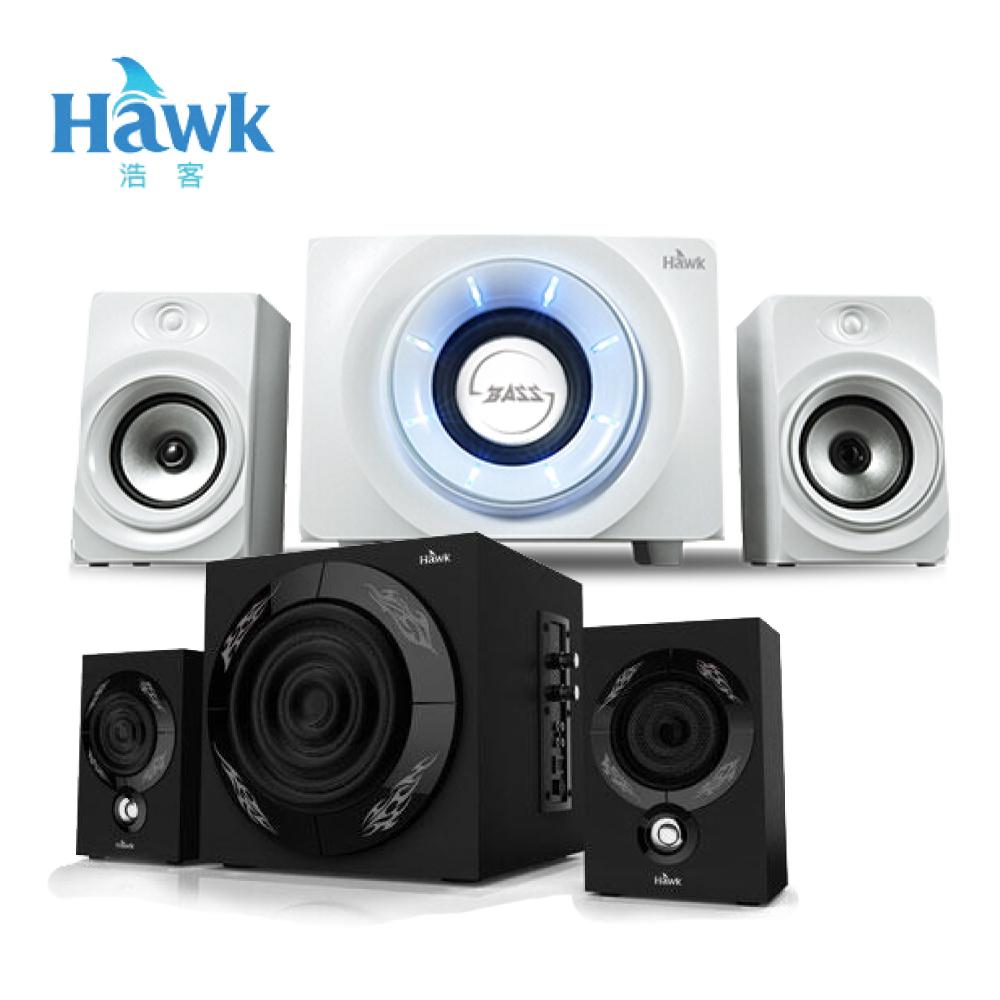 Hawk 神魔之眼 2.1聲道 藍牙多媒體喇叭 - 白色