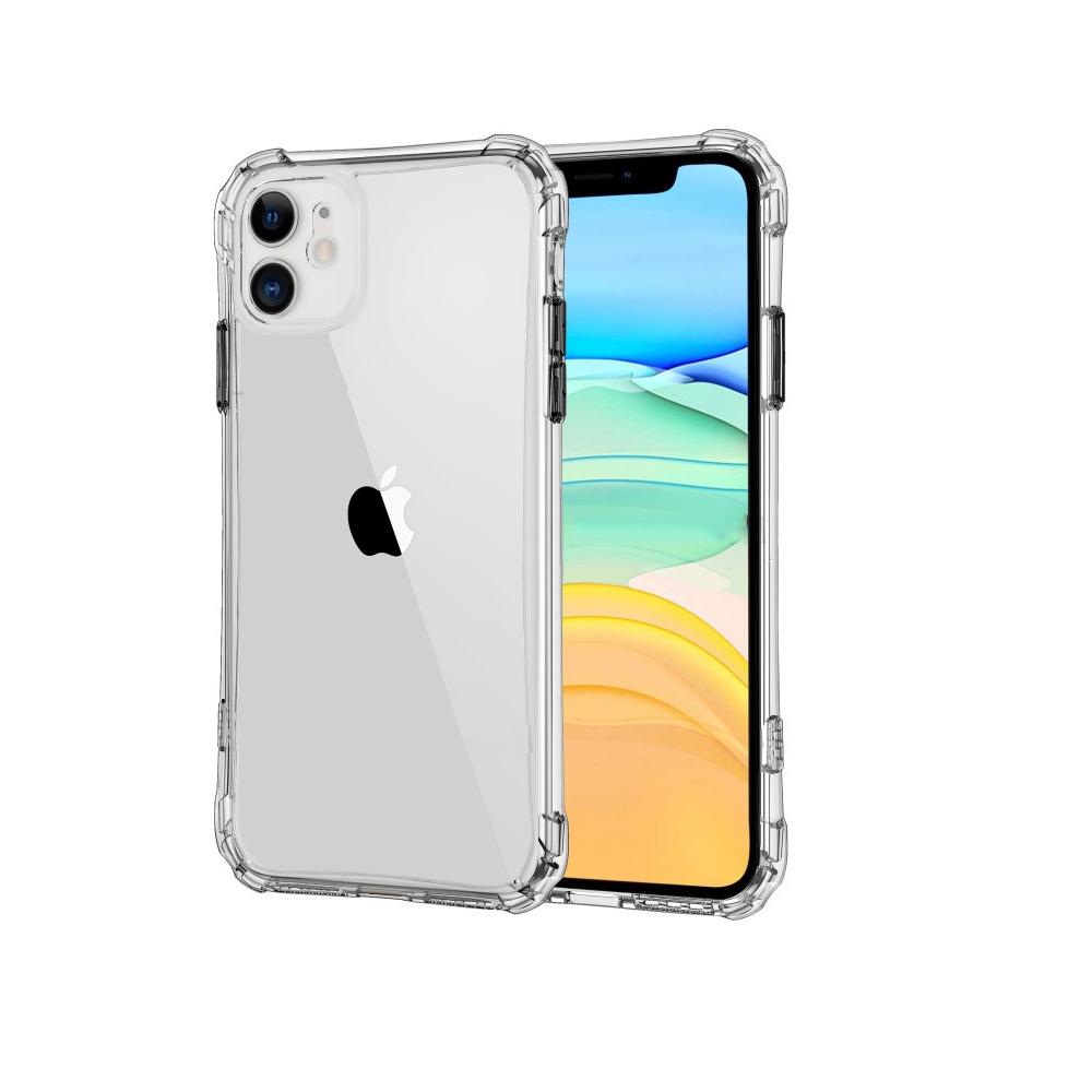 LEEU DESIGN Apple iPhone 11 Pro Max 犀甲 氣囊磨砂保護殼(透明)