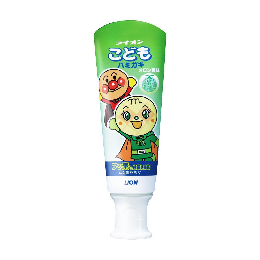 日本獅王麵包超人牙膏-哈密瓜40gX6