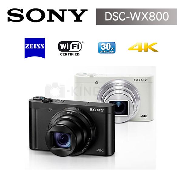 新機上市 SONY DSC-WX800-黑色 光學30倍 (公司貨)送32G高速卡+專用電池+專用座充+拭鏡筆+清潔組+讀卡機+螢幕貼+小腳架大全配