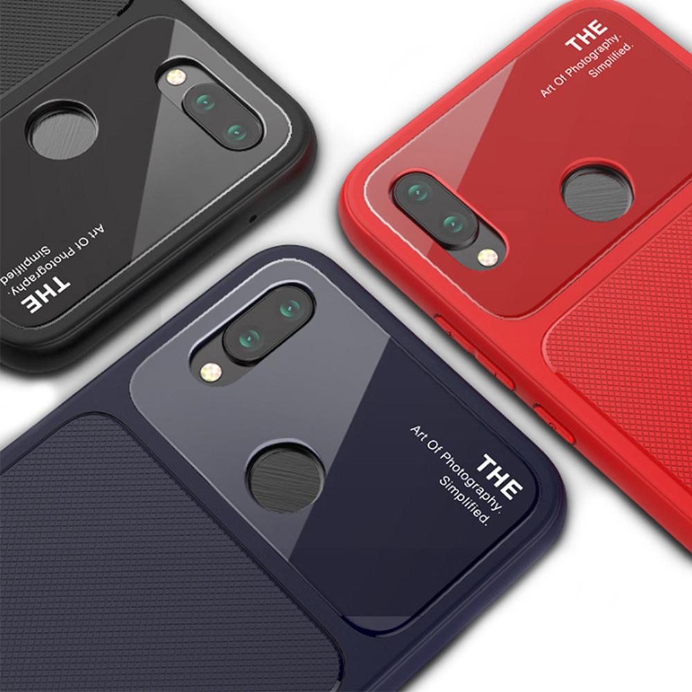 QinD HUAWEI Nova 3e/P20 Lite 爵士玻璃手機殼(黑色)