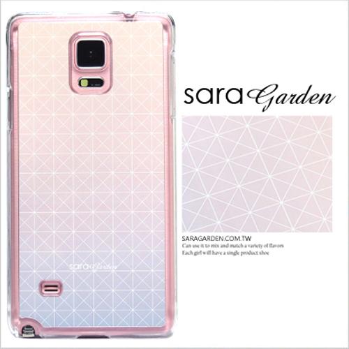 客製化 原創 Samsung 三星 Note5 手機殼 白硬殼 藍粉幾何