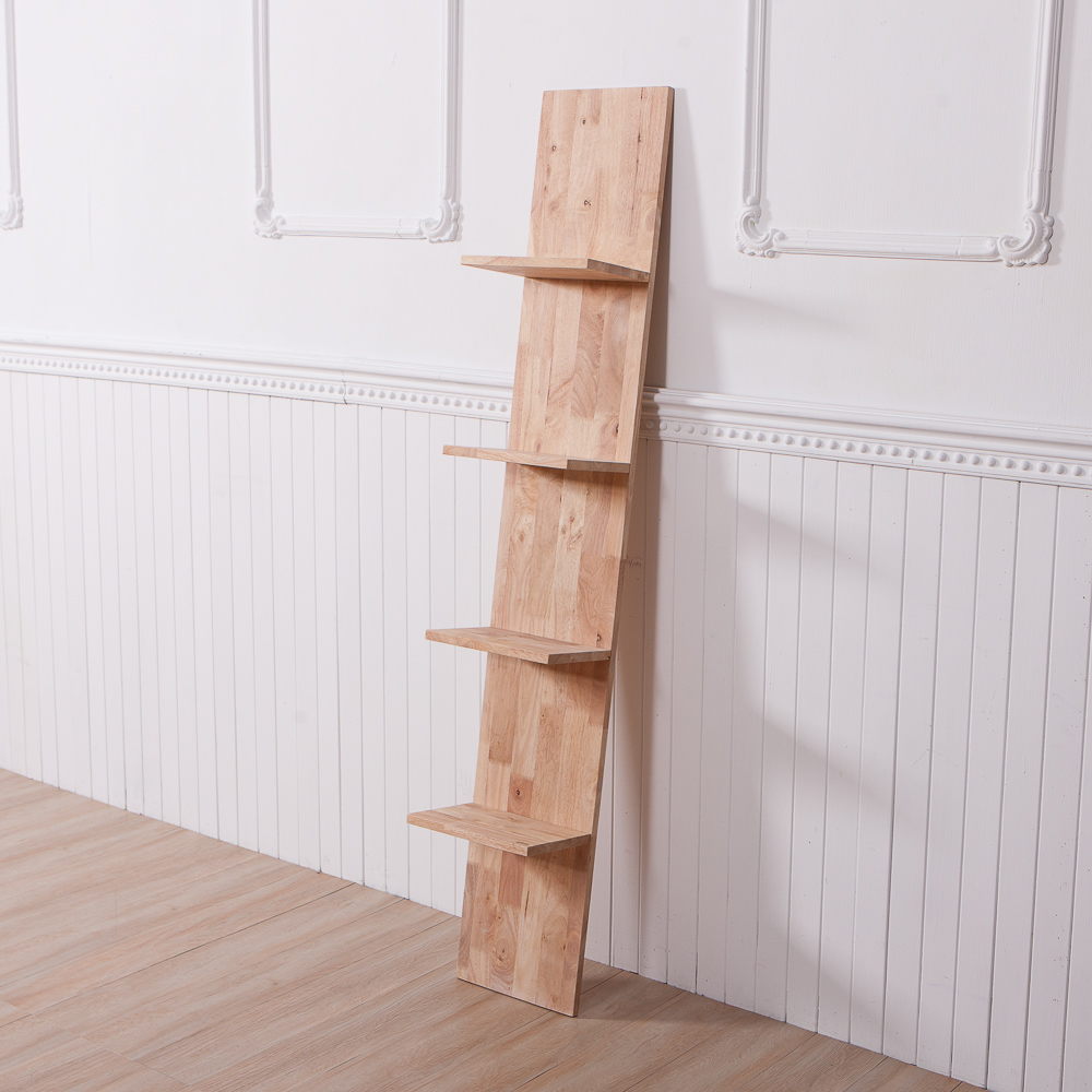 自然簡約生活壁架梯型四層架-生活工場