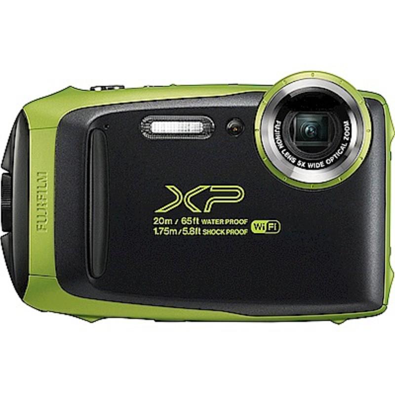 FUJIFILM XP140防水潛水相機 -綠色 恆昶公司貨 送64G高速卡+專用電池+專用座充+自拍棒+清潔組+保護貼+讀卡機+原廠相機包