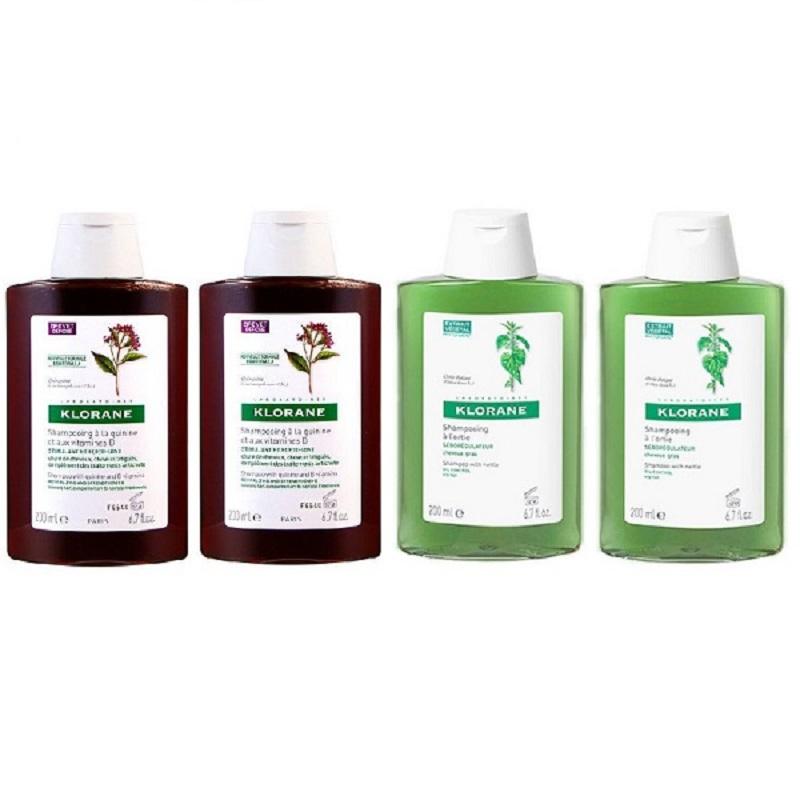 KLORANE 蔻蘿蘭 控油洗髮精200ml*2 + 養髮洗髮精 200ml*2