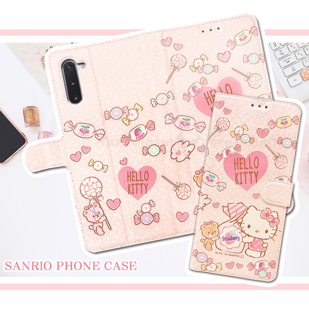 三麗鷗授權 Hello Kitty貓 三星 Samsung Galaxy Note10 粉嫩系列彩繪磁力皮套(軟糖)