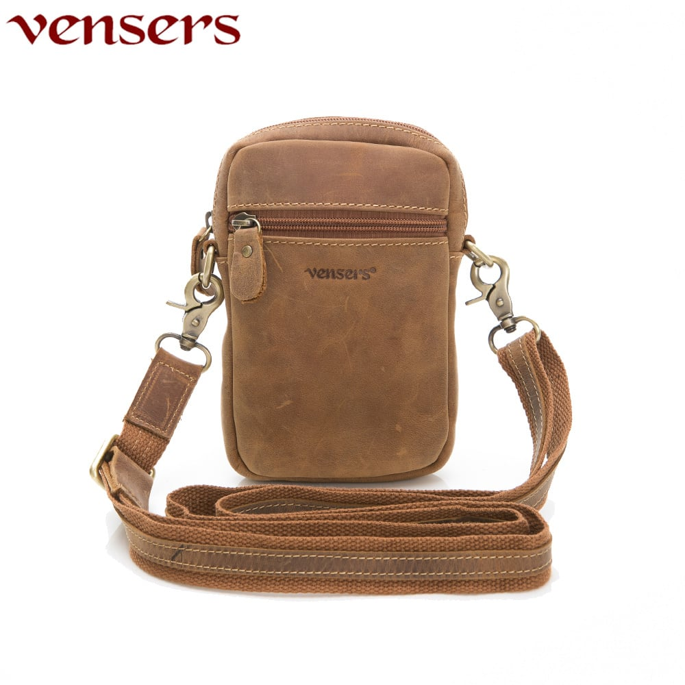 【vensers】小牛皮潮流個性包~腰包~(ND301701瘋馬皮)