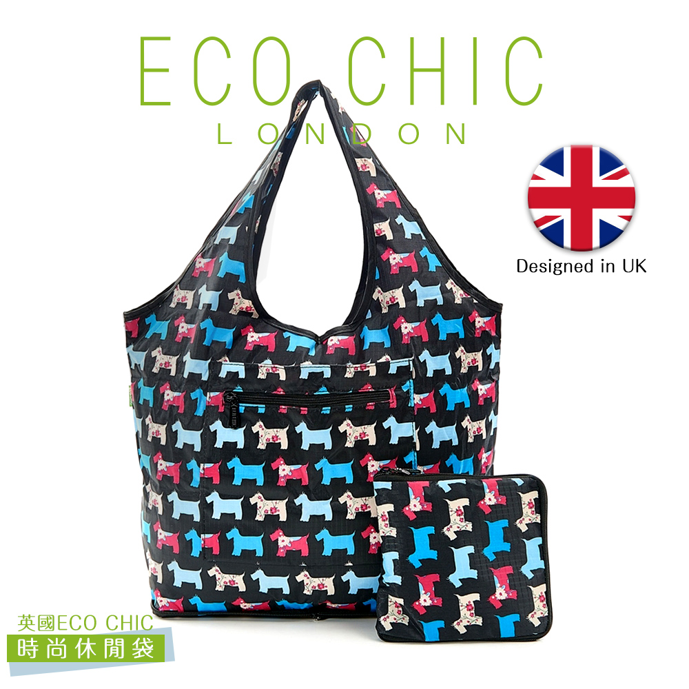 英國ECO CHIC時尚可折疊休閒袋-雪納黑