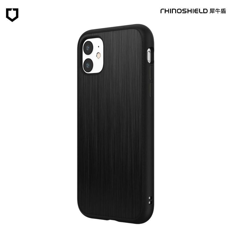 犀牛盾 SolidSuit 防摔背蓋手機殼 iPhone 11 6.1(2019) 髮絲紋-黑