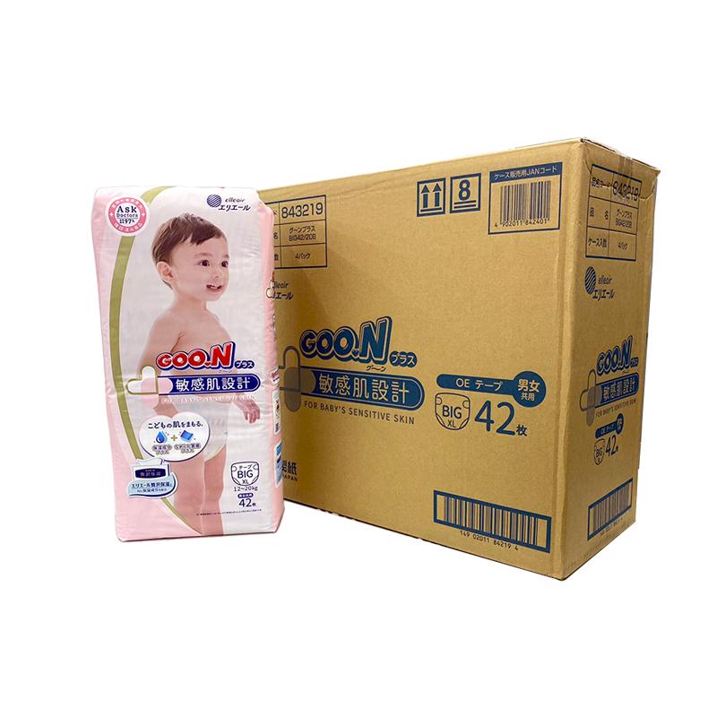 【GOO.N】大王敏感肌(黏)-XL42x4包/箱