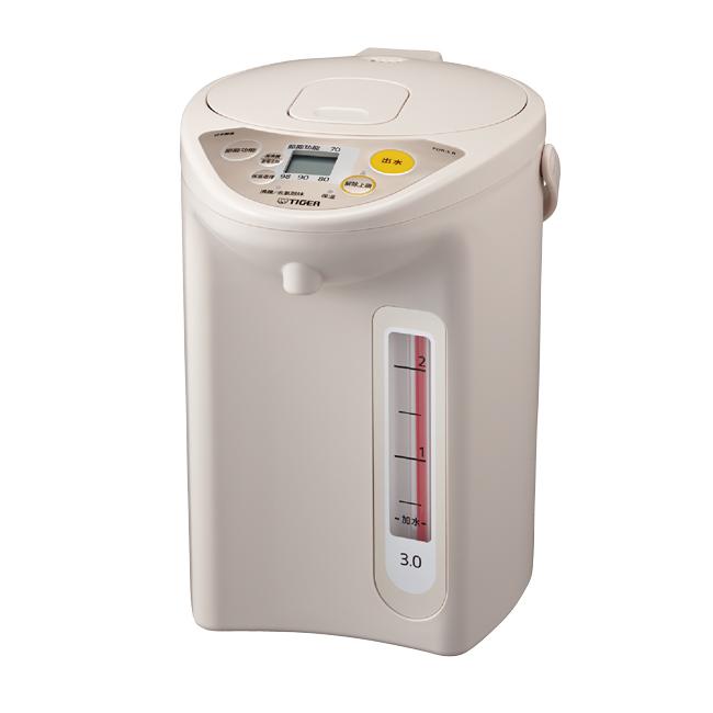 ★日本原裝進口★【TIGER虎牌】日本製3.0L微電腦電熱水瓶(卡其色) PDR-S30R-CX