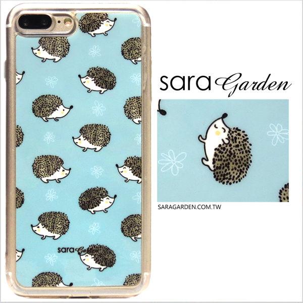 【Sara Garden】客製化 軟殼 蘋果 iphone7plus iphone8plus i7+ i8+ 手機殼 保護套 全包邊 掛繩孔 刺蝟小動物