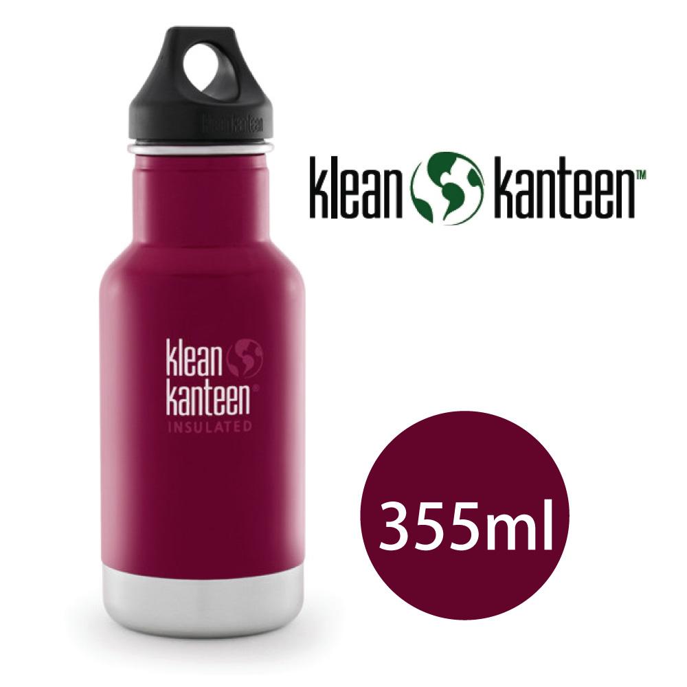 【美國Klean Kanteen】窄口不鏽鋼保溫瓶-355ml-甜菜紅