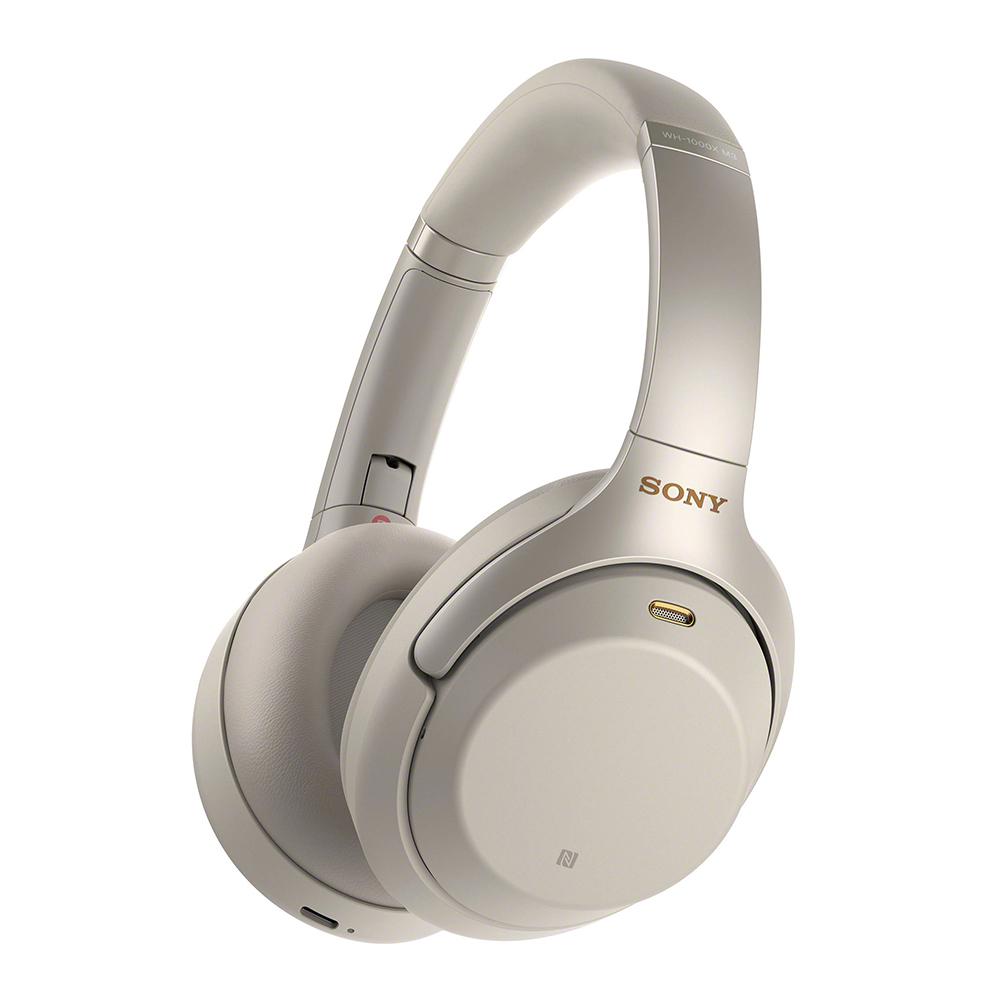 【送旅行盥洗包】SONY WH-1000XM3銀色 無線降噪耳機