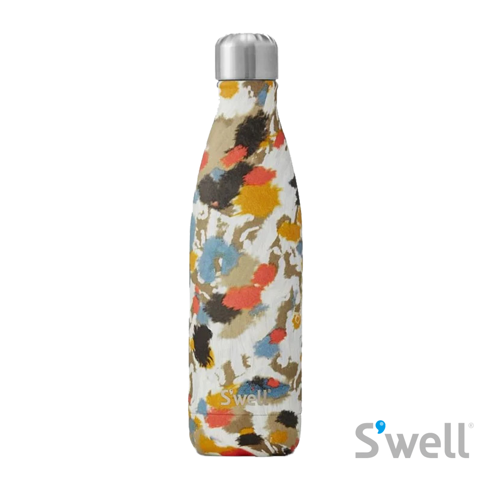 【S'well】紐約時尚不鏽鋼保冷保溫瓶-Exotics系列 Ivoire Cheetah 17oz(500ml)