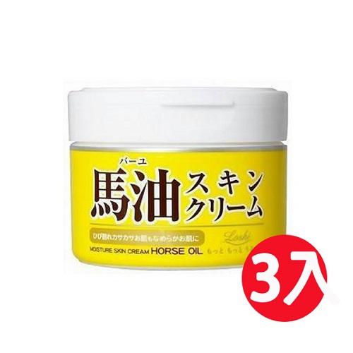 日本Loshi 保水潤澤馬油護膚霜/乳液 220ml *3瓶組