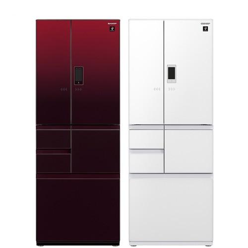 ★一級能效★【SHARP 夏普】502L日本原裝變頻六門觸控對開冰箱 SJ-GX50ET-R