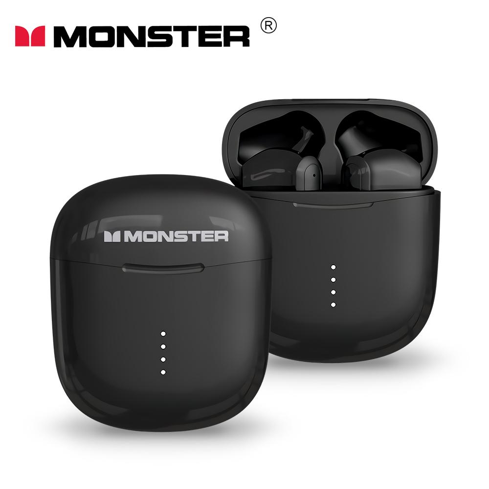 MONSTER Clarity 107 AirLinks 藍牙5.0無線耳機(加贈招財貓造型保護套)-酷睿黑