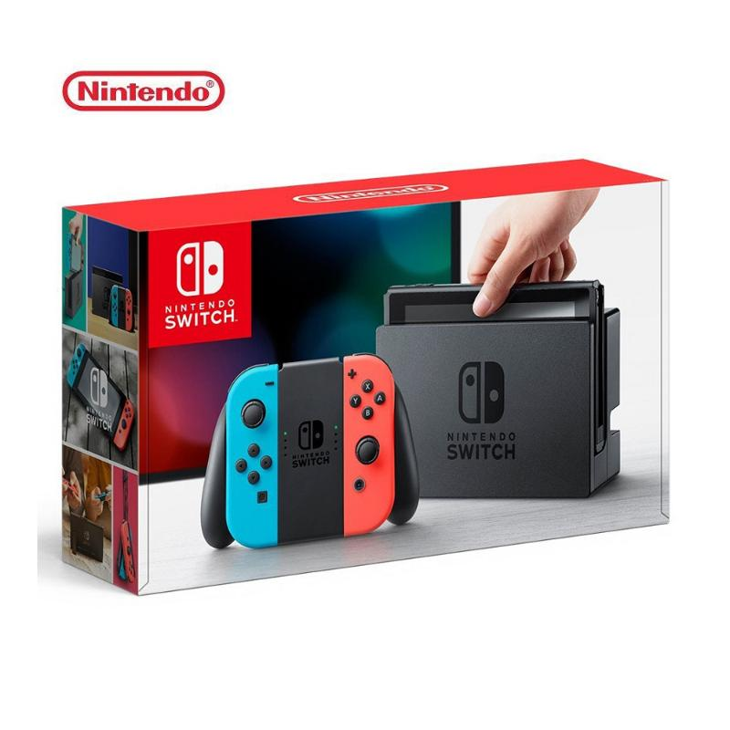 Nintendo 任天堂 Switch 主機 電光紅藍 (台灣公司貨)+控制器左右手套組灰