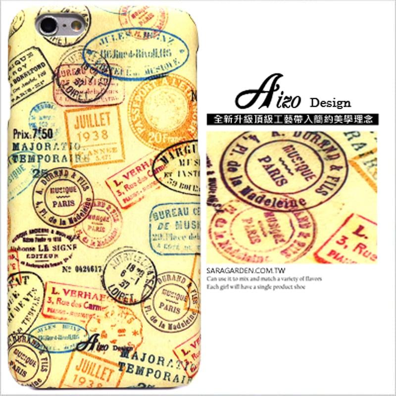 【AIZO】客製化 手機殼 蘋果 iphoneX iphone x 巴黎 古著 郵戳 保護殼 硬殼