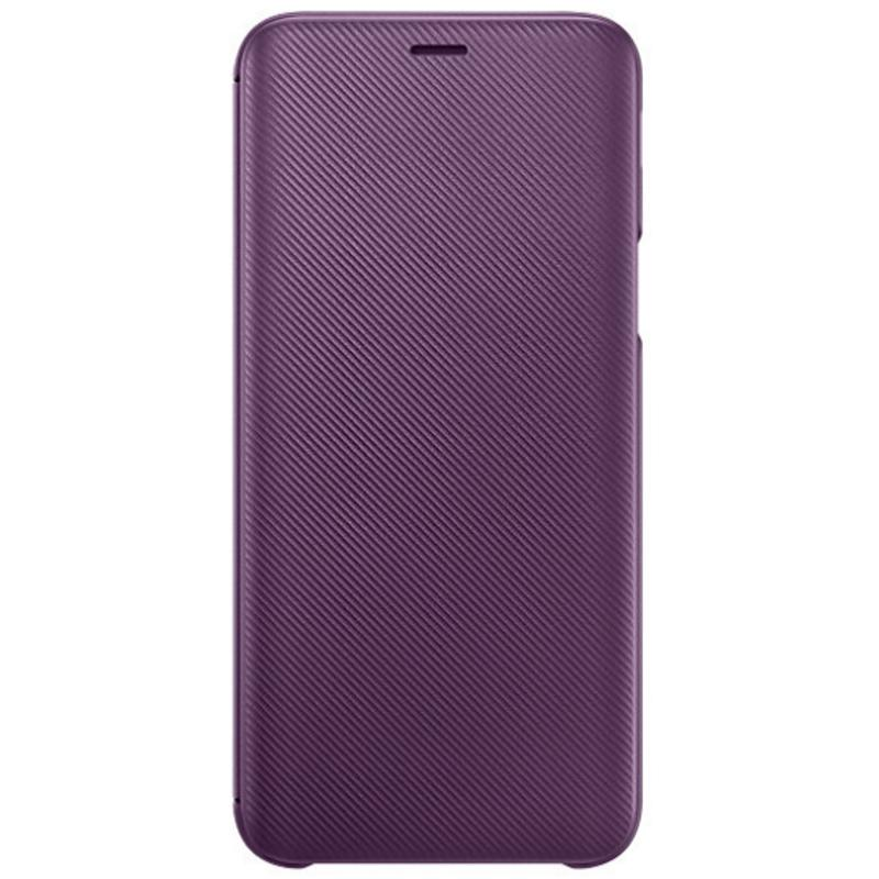 SAMSUNG Galaxy J6翻頁式皮套 紫紅