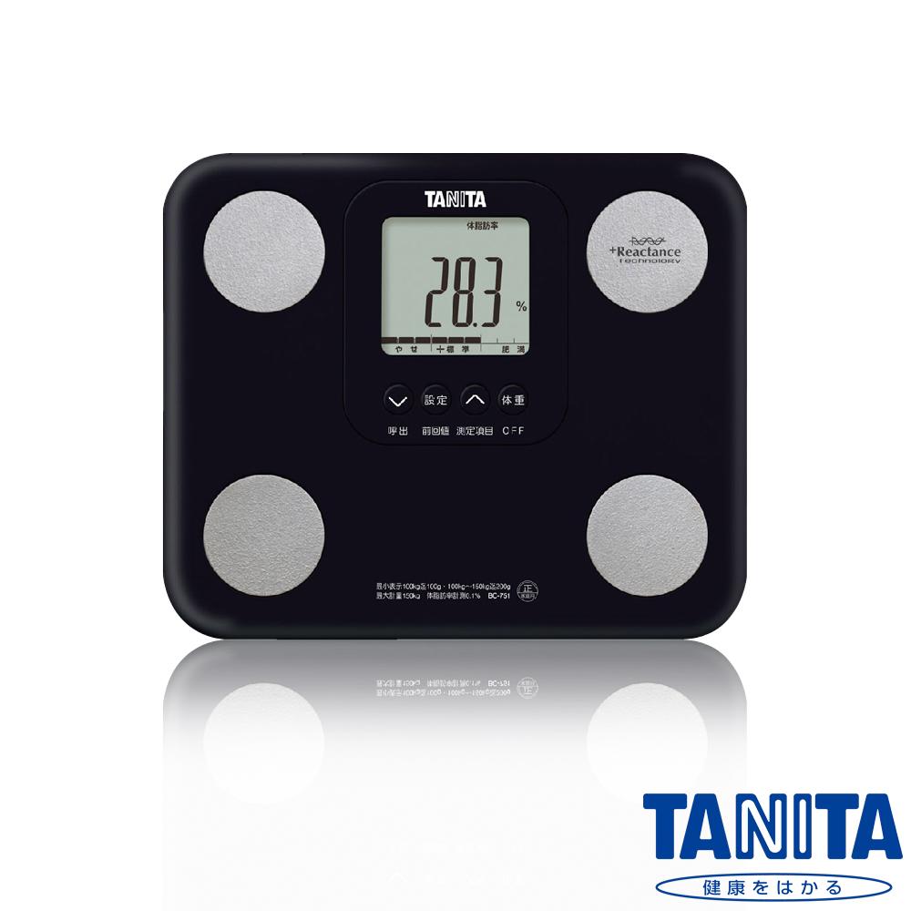 【日本TANITA】七合一羽量輕巧體組成計BC751-高貴黑
