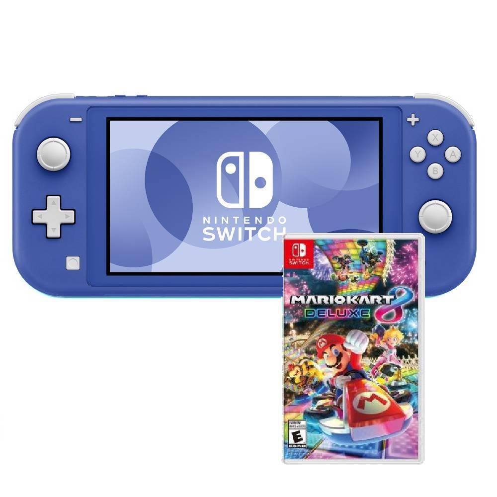 Nintendo Switch Lite藍色(台灣公司貨)+瑪利歐賽車 8 豪華版 中文版