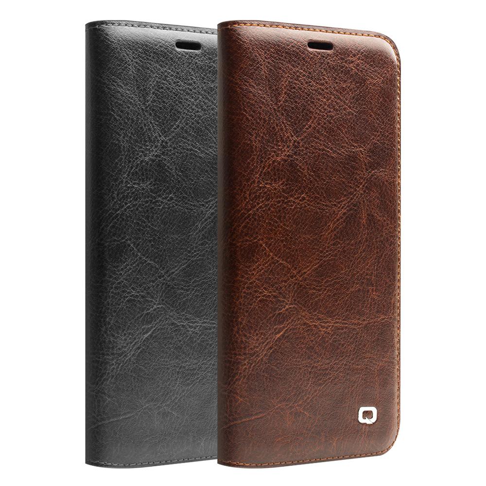 QIALINO SAMSUNG Galaxy S9+ 經典皮套(升級版)(棕色)