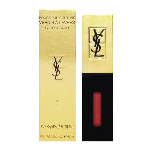 YSL 聖羅蘭 奢華緞面鏡光唇釉 6ml (國際航空版) 色號:07 珊瑚