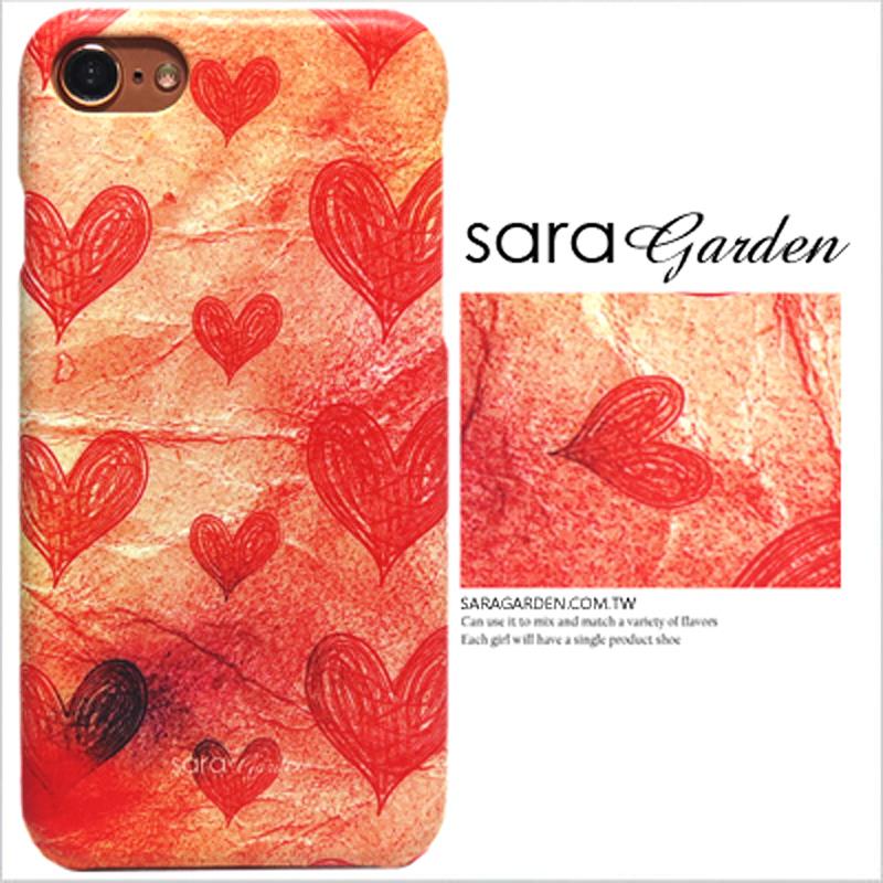 【Sara Garden】客製化 手機殼 華為 P9 漸層愛心紙 保護殼 硬殼
