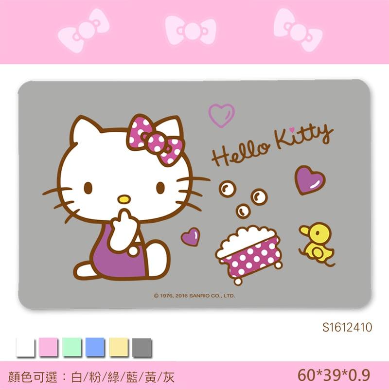 【三麗鷗獨家授權】Hello Kitty珪藻土吸水地墊//歡樂澡堂-灰