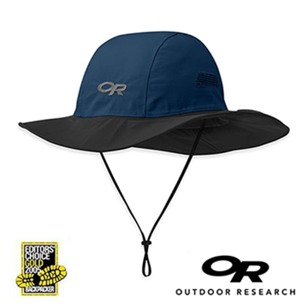 【美國Outdoor Research】深藍色M-經典款Gore-Tex防水透氣防曬可折疊遮陽帽