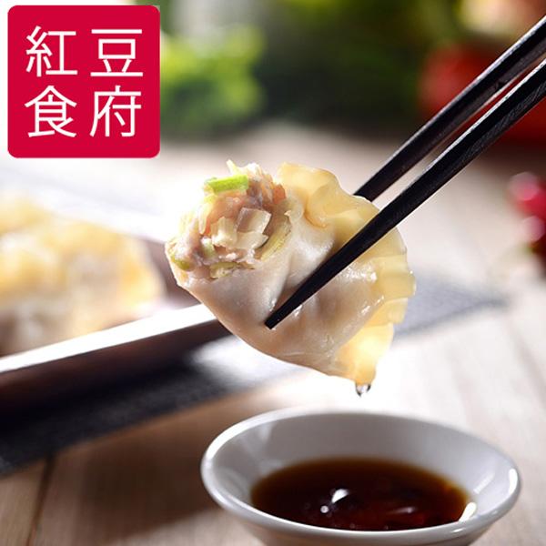 預購《紅豆食府SH》韭黃高麗菜豬肉水餃(25粒/盒,共兩盒)