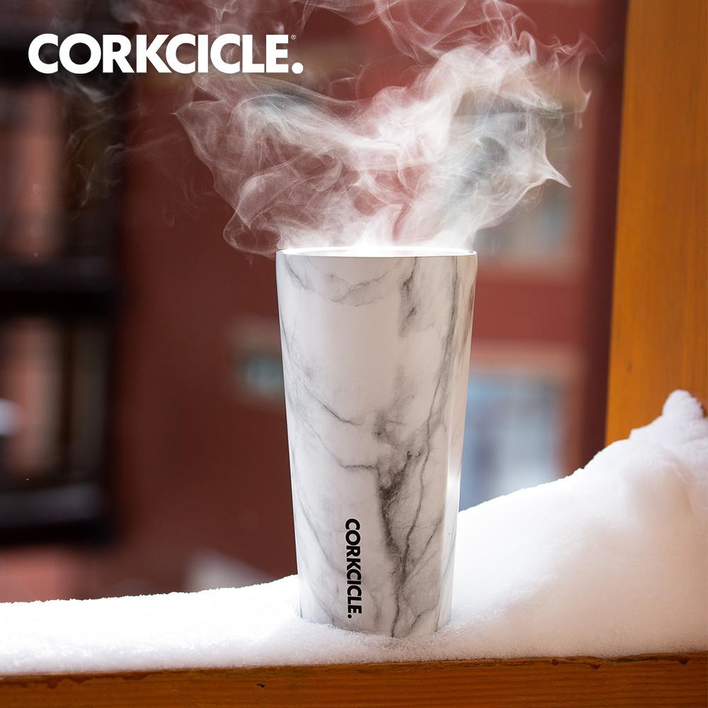 美國CORKCICLE Origins系列三層真空寬口杯/保溫隨行杯475ml-大理石紋