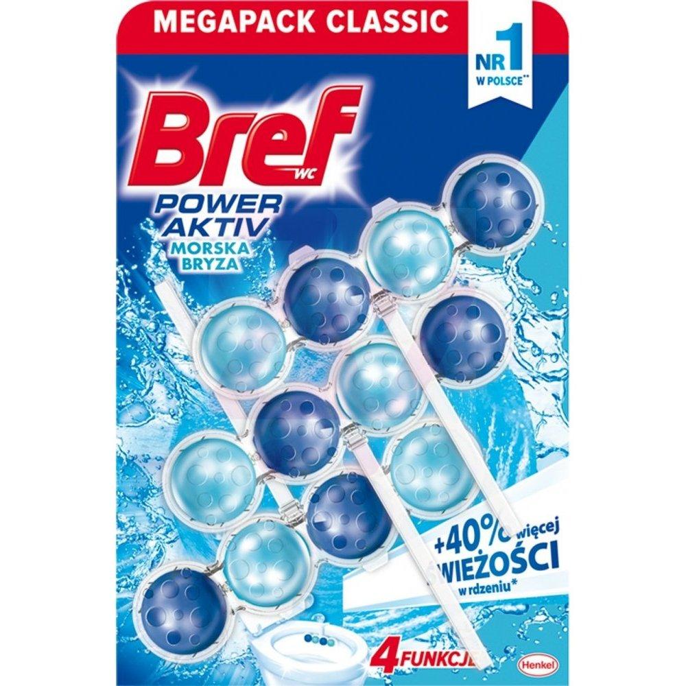 Bref馬桶消臭清潔球-海洋香氛(50g*3入)X3組