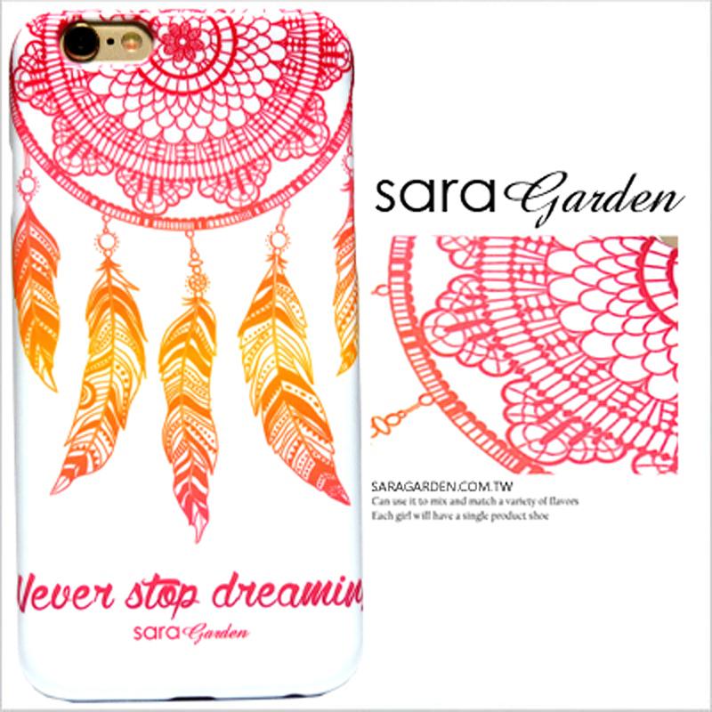 【Sara Garden】客製化 手機殼 蘋果 iPhone 6Plus 6SPlus 5.5吋 炫彩 捕夢網 羽毛 英文 硬殼 限定