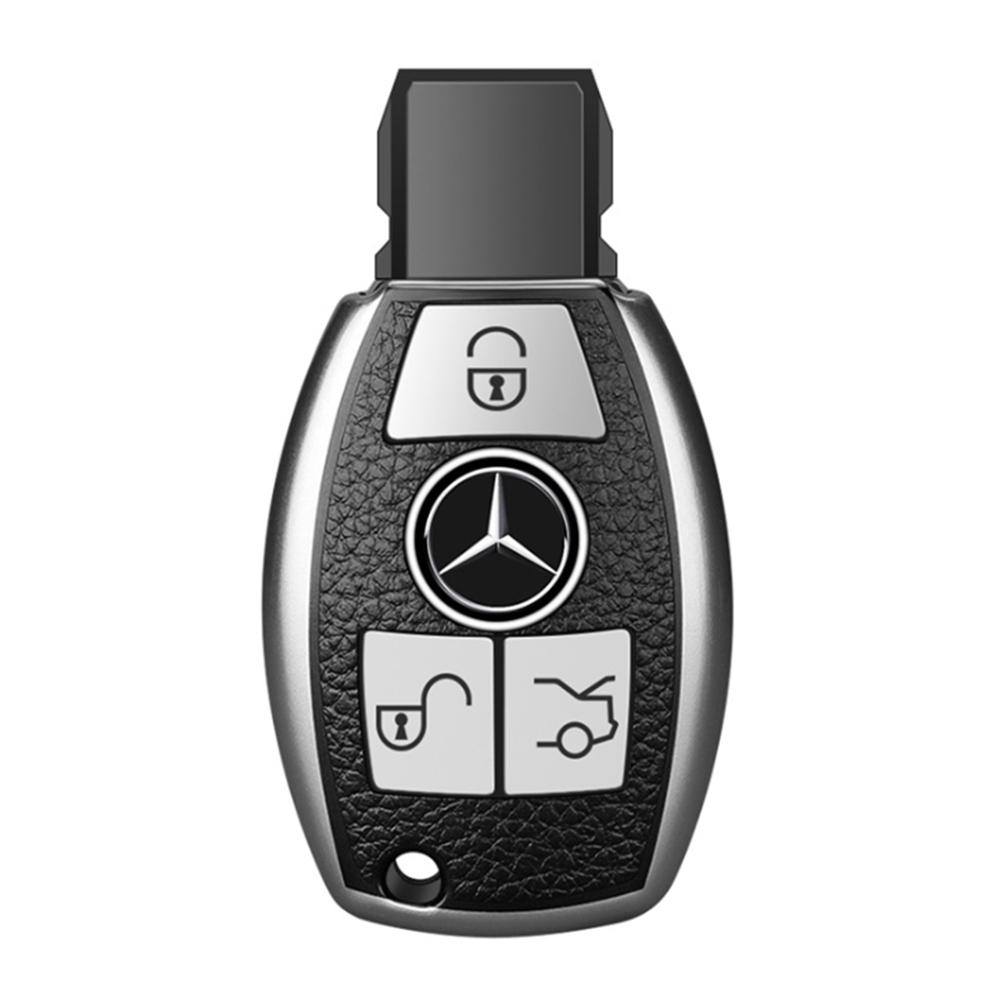QinD Mercedes-Benz 賓士車鑰匙保護套(B款)(祖母綠)