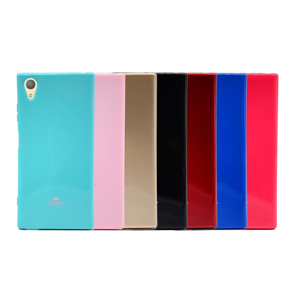 GOOSPERY SONY Xperia XA1 Plus JELLY 閃粉套(藍色)