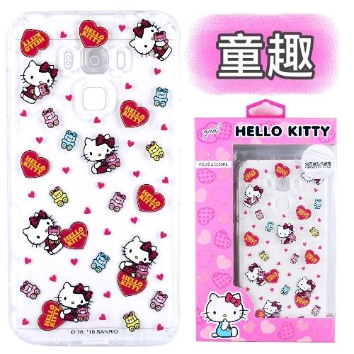【Hello Kitty】ASUS ZenFone 3 Max 5.5吋 ZC553KL 彩繪空壓手機殼(童趣)