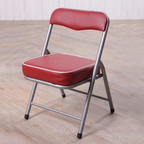 BASIC 紅色折疊童椅-生活工場