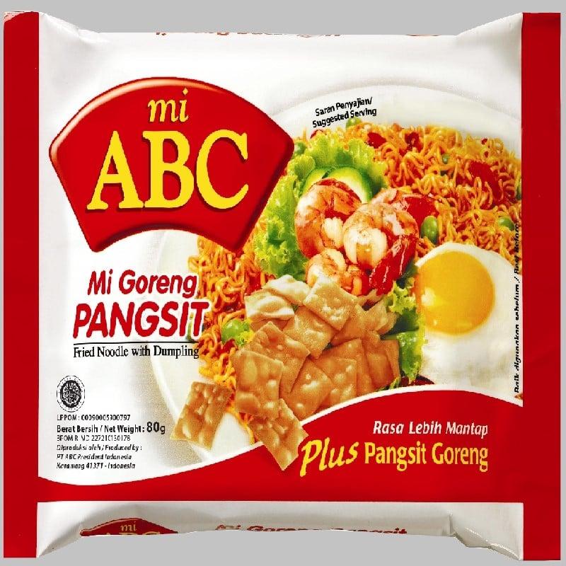 印尼ABC炒麵王80G*20包+辣味茄汁味湯麵70G*20包